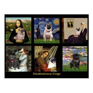 Berühmter Kunst-Mops zusammengesetztes #1 Postkarte