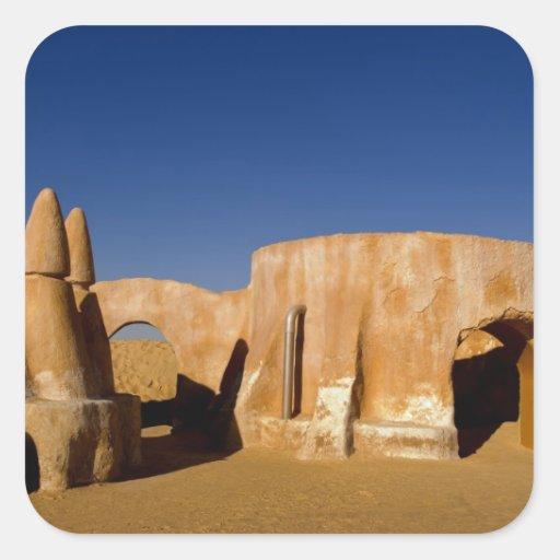 Berühmtes Film-Set Stern-Kriegsfilme in Sahara Aufkleber