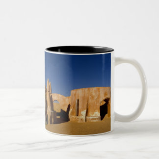 Berühmtes Film-Set Stern-Kriegsfilme in Sahara Zweifarbige Tasse