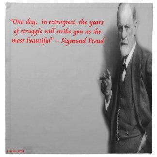 "Berühmtes ""Kampf-"" Zitat Sigmund Freud Serviette"