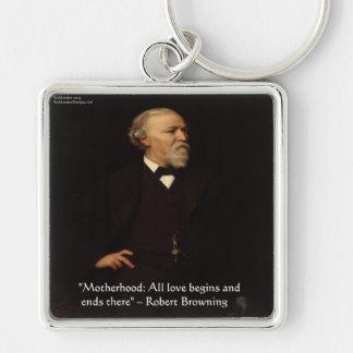Berühmtes Mutterschafts-Zitat Robert Brownings Schlüsselanhänger