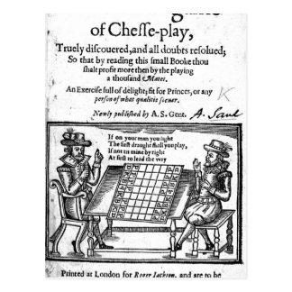 Berühmtes Spiel von Schach, 1614 Postkarte