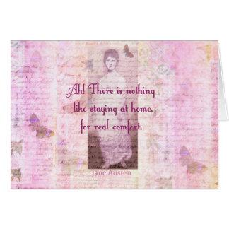 Berühmtes Zitat Janes Austen über Karte