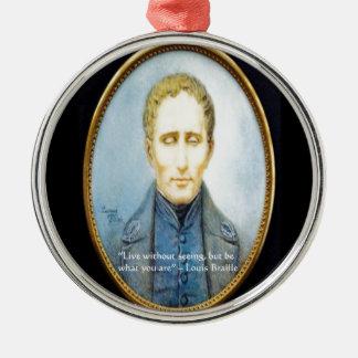 Berühmtes Zitat Louis Braille Silbernes Ornament