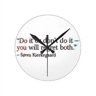 Berühmtes Zitat Soren Kierkegaard Runde Wanduhr