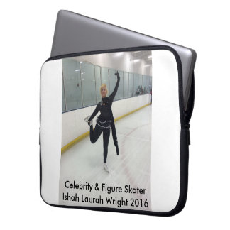 Berühmtheit u. Zahl Skater Ishah Laurah Wright Laptopschutzhülle