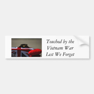 Berührt durch den Vietnamkrieg, aus Furcht, dass Autoaufkleber