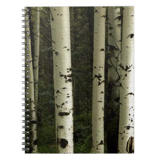 Beschaffenheit eines Waldporträts Spiral Notizblock