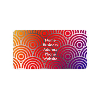 Beschaffenheits-geometrischer Farbkreis-Wirbel Adressaufkleber