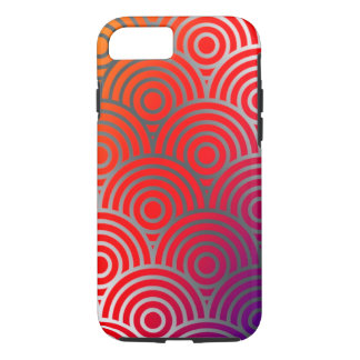 Beschaffenheits-geometrischer Farbkreis-Wirbel iPhone 8/7 Hülle