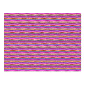 Beschaffenheits-Streifenmuster Schablone addieren Postkarten