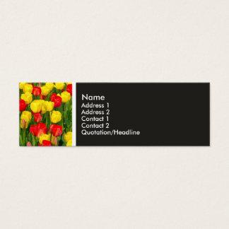 Beschaffenheits-Ton - bunte Tulpen Mini Visitenkarte