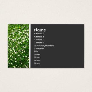 Beschaffenheits-Ton (Gänseblümchen-Rasen) Visitenkarte