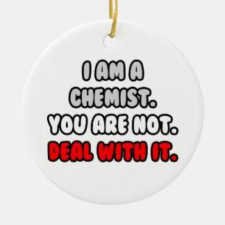 Beschäftigen Sie es… mit lustigen Chemiker-Hemden Weihnachtsbaum Ornamente