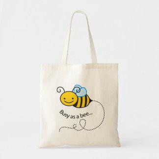 Beschäftigt als Biene Tragetasche