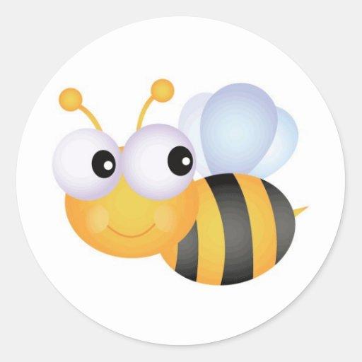 Beschäftigte Biene Runder Aufkleber