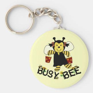 Beschäftigte Biene Standard Runder Schlüsselanhänger