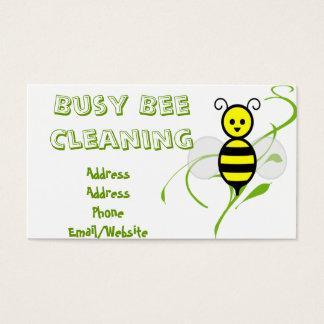 Beschäftigte Bienen-Clipart Visitenkarte