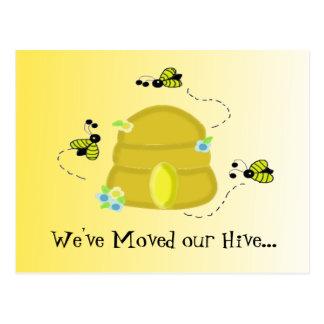 Beschäftigte Bienen, die wir befördert haben Postkarte