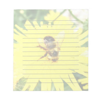 Beschäftigte Bienen-Notizblock Notizblock