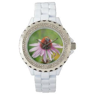 Beschäftigte Bienen-Uhr Armbanduhr