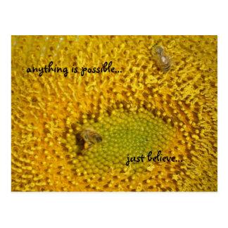 Beschäftigte Honigbiene Postkarte