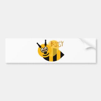 Beschäftigte Hummel-Biene niedlich Autoaufkleber