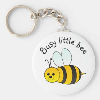 Beschäftigte kleine Biene Schlüsselanhänger