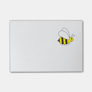 Beschäftigte kleine Hummel-Biene Post-it Klebezettel