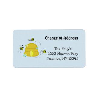 Beschäftigter Bienenstock unsere Adresse Adressaufkleber