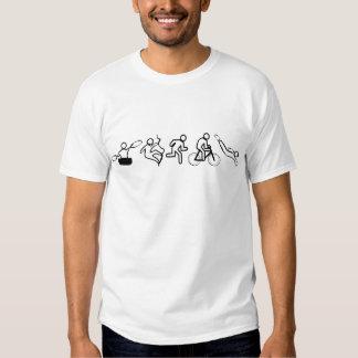Beschäftigtes Sport-Wochenende T-shirt