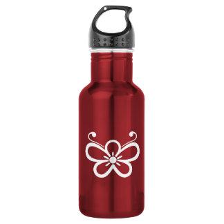Beschattete Schmetterling-förmige Pflaumenblüte Trinkflasche