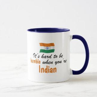 Bescheidener Inder Tasse