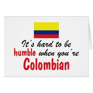 Bescheidenes kolumbianisches karte