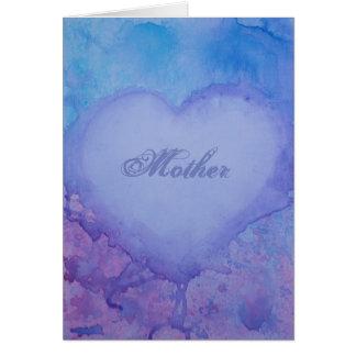 Bescheidenheits-Gruß-Karte der Mutter Tages Karte