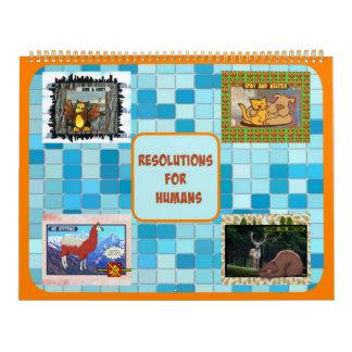 Beschlüsse für den Menschen-Kalender (groß) Abreißkalender