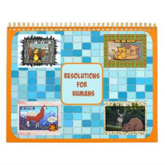 Beschlüsse für Menschen-Kalender (mittlere Größe) Kalender