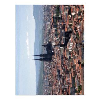 Beschreibung Clermont-ferrand gesehen von Montjuze Postkarte