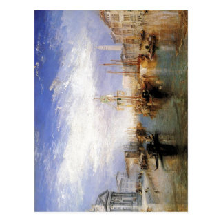 Beschreibung das Canal Grande - Venedig durch J.M. Postkarte
