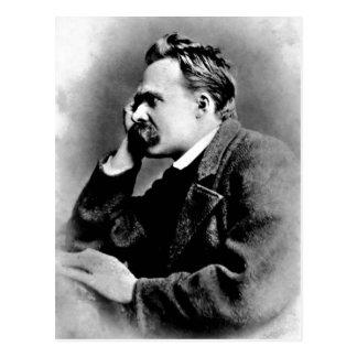 Beschreibungs-Porträt von Friedrich Nietzsche, Postkarte