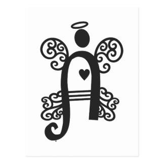 beschriften Sie a-Monogramminitiale Postkarte