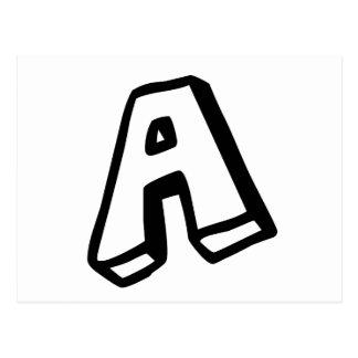 """Beschriften Sie """"A """" Postkarte"""