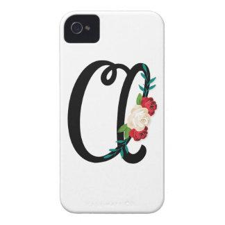 Beschriften Sie B mit Vintagem Blumenentwurf und iPhone 4 Hülle