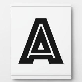 Beschriften Sie ein Monogramm |, das einfach ist, Fotoplatte