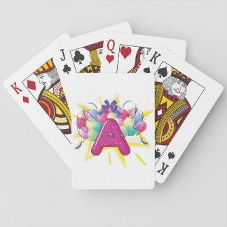 Beschriften Sie eine Feier-Spielkarten Spielkarten
