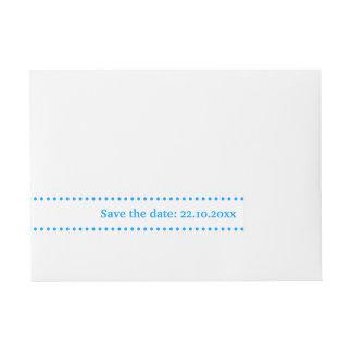 Beschriftet Blau Rundum-Adressaufkleber