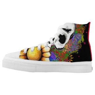 beschuht colourfull Schädel Hoch-geschnittene Sneaker