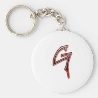 """Beschwerde """"G"""" Keychain Standard Runder Schlüsselanhänger"""