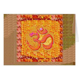 BESCHWÖRUNGSFORMEL OmMANTRA Yoga-Gesang-Meditation Karte