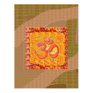 BESCHWÖRUNGSFORMEL OmMANTRA Yoga-Gesang-Meditation Postkarte